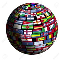 262580-Flags-of-all-nations-cover-the-earth-surface--Stock-Photo